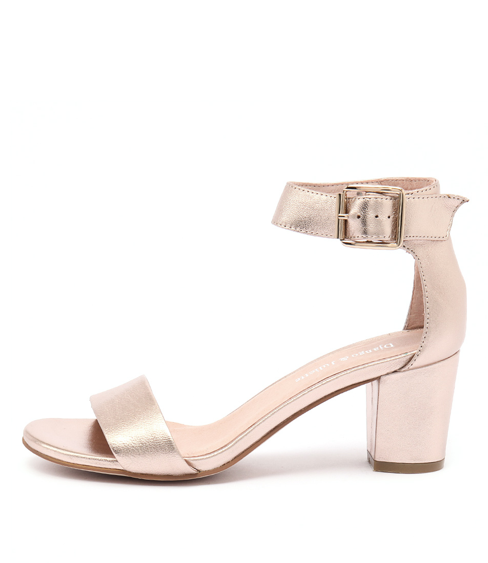 Django & Juliette Cassier Rose Gold Sandals