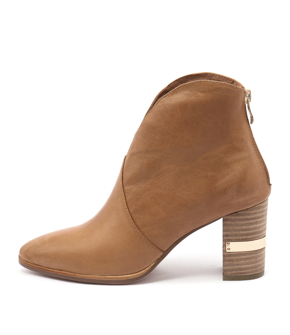 Django & Juliette Aloha Tan Dress Ankle Boots
