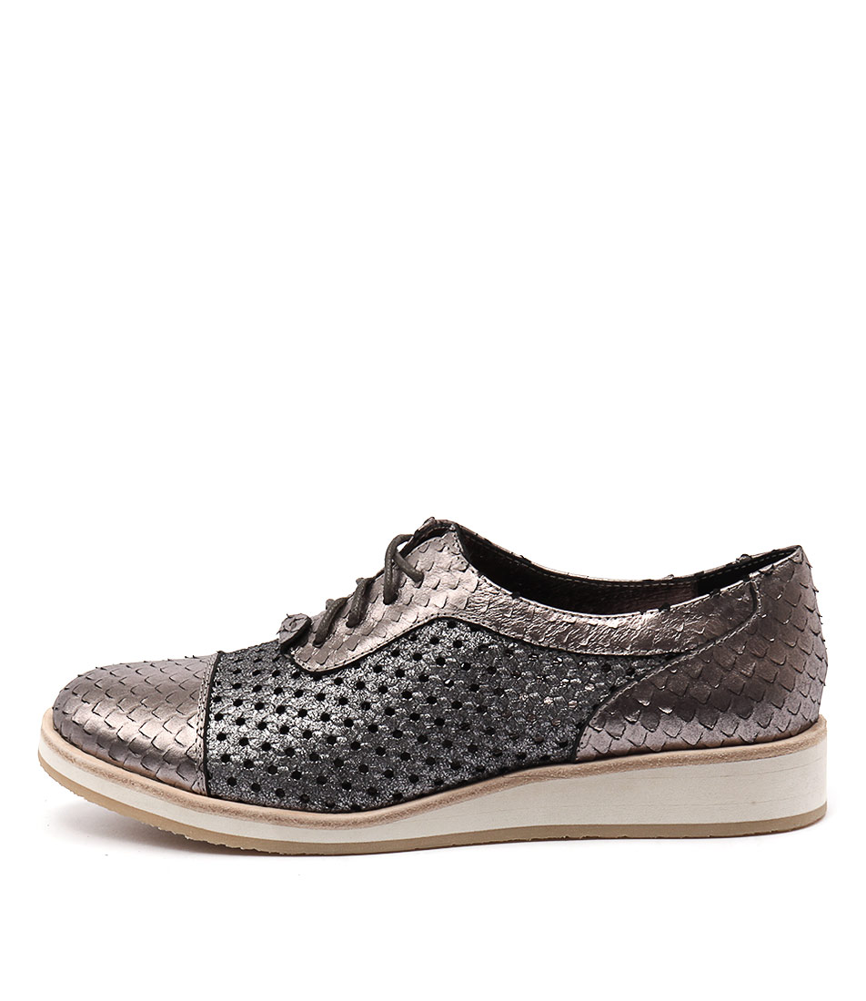 Django & Juliette Cedric Pewter Pewter Flat Shoes