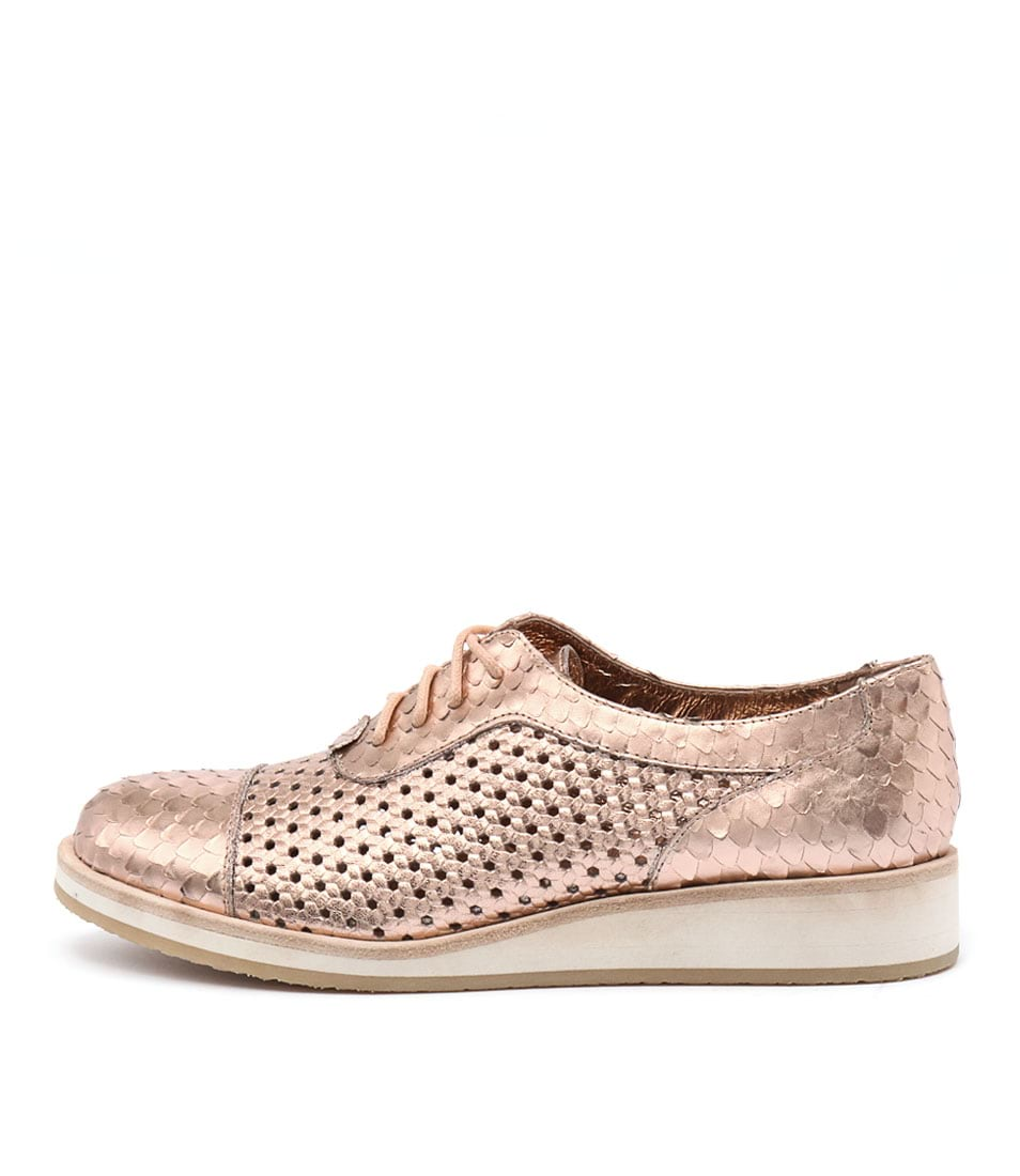 Django & Juliette Cedric Rose Gold Casual Heeled Shoes