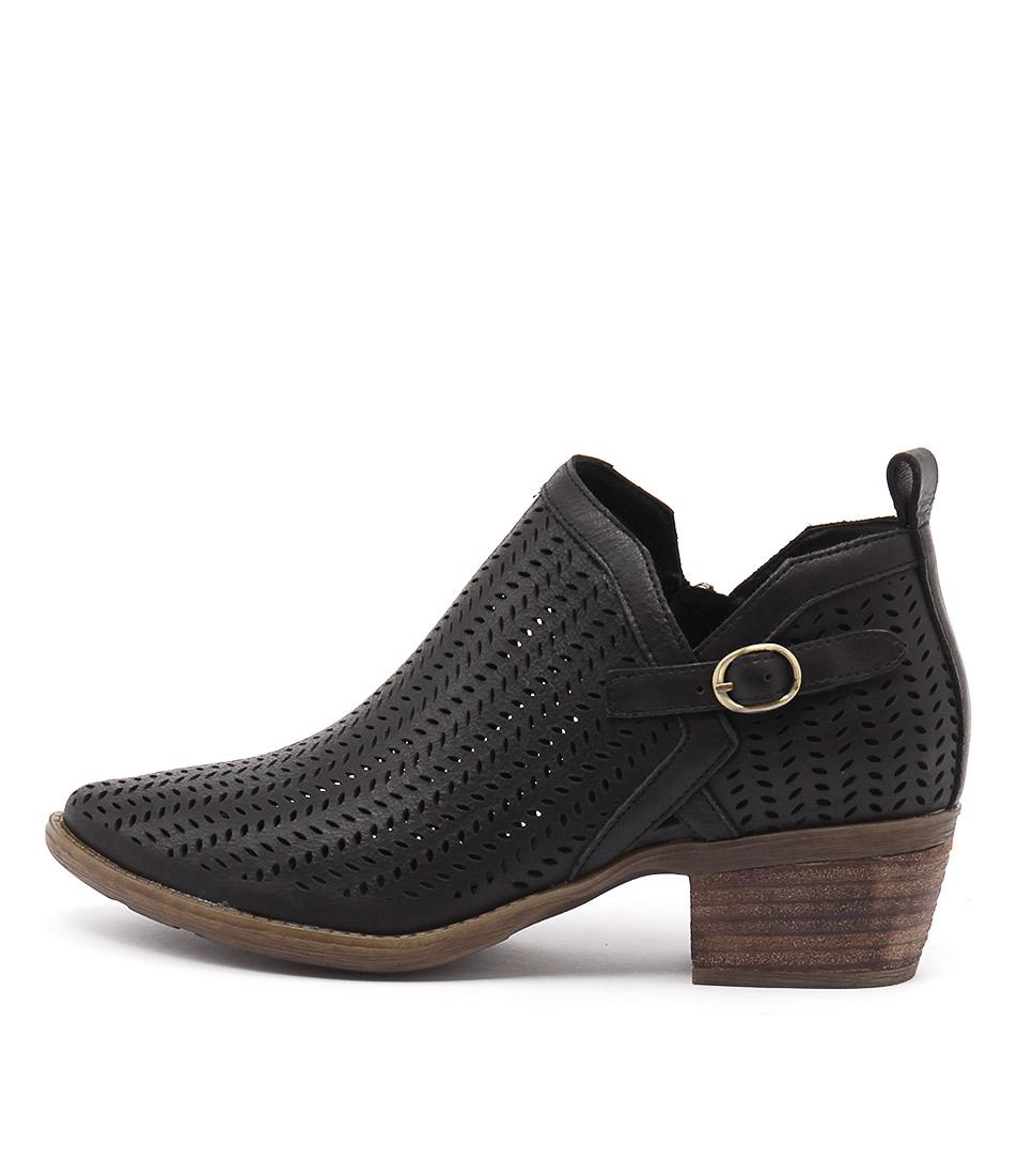 Django & Juliette Sulk Black Ankle Boots