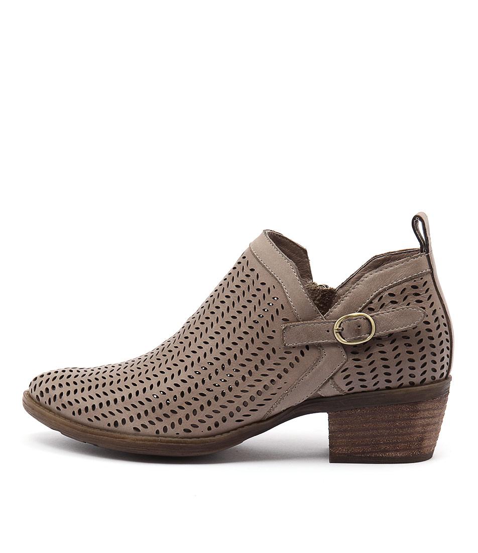 Django & Juliette Sulk Taupe Casual Ankle Boots