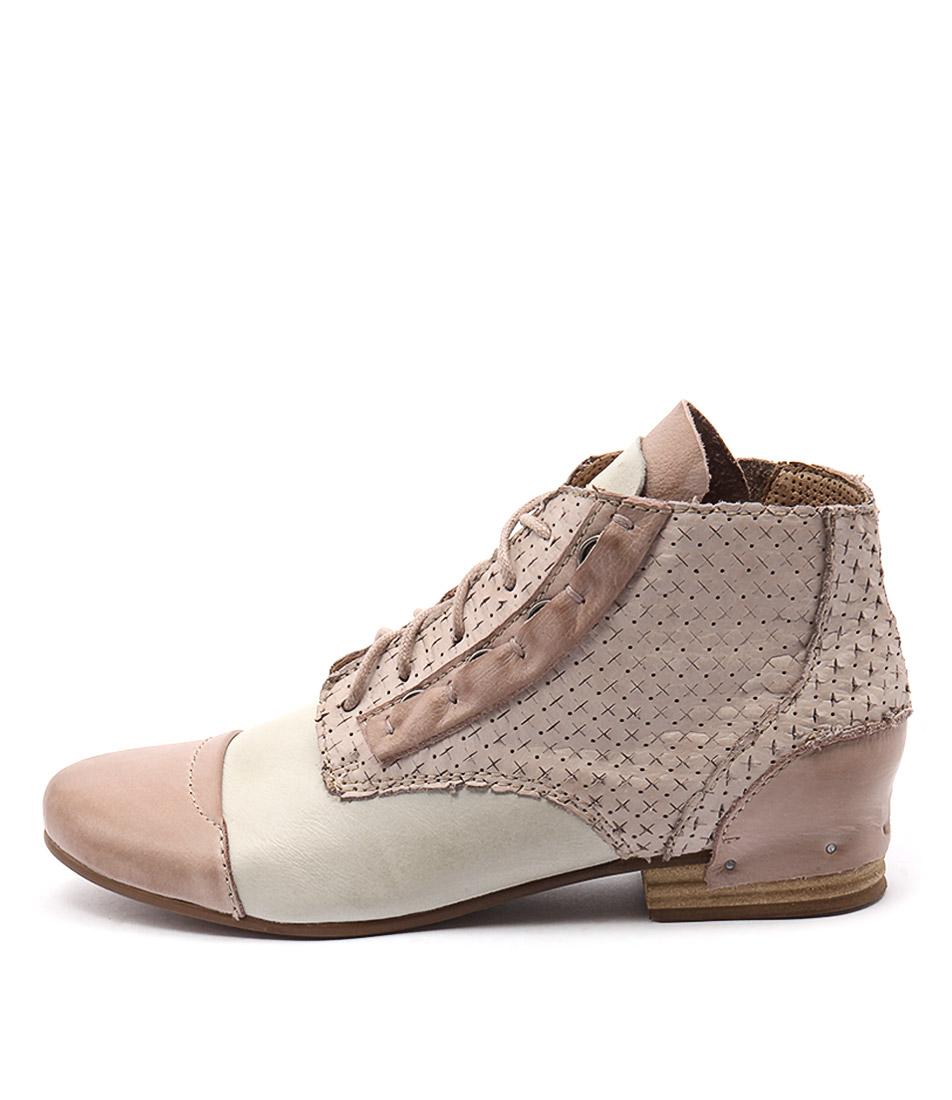 Django & Juliette Dazing Cafe & Nude Multi Ankle Boots