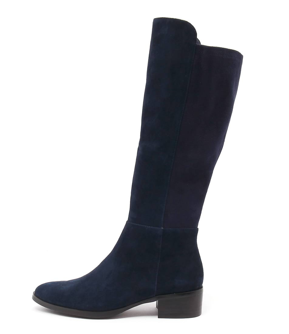 Buy Django & Juliette Tetley Navy Navy Long Boots online with free shipping