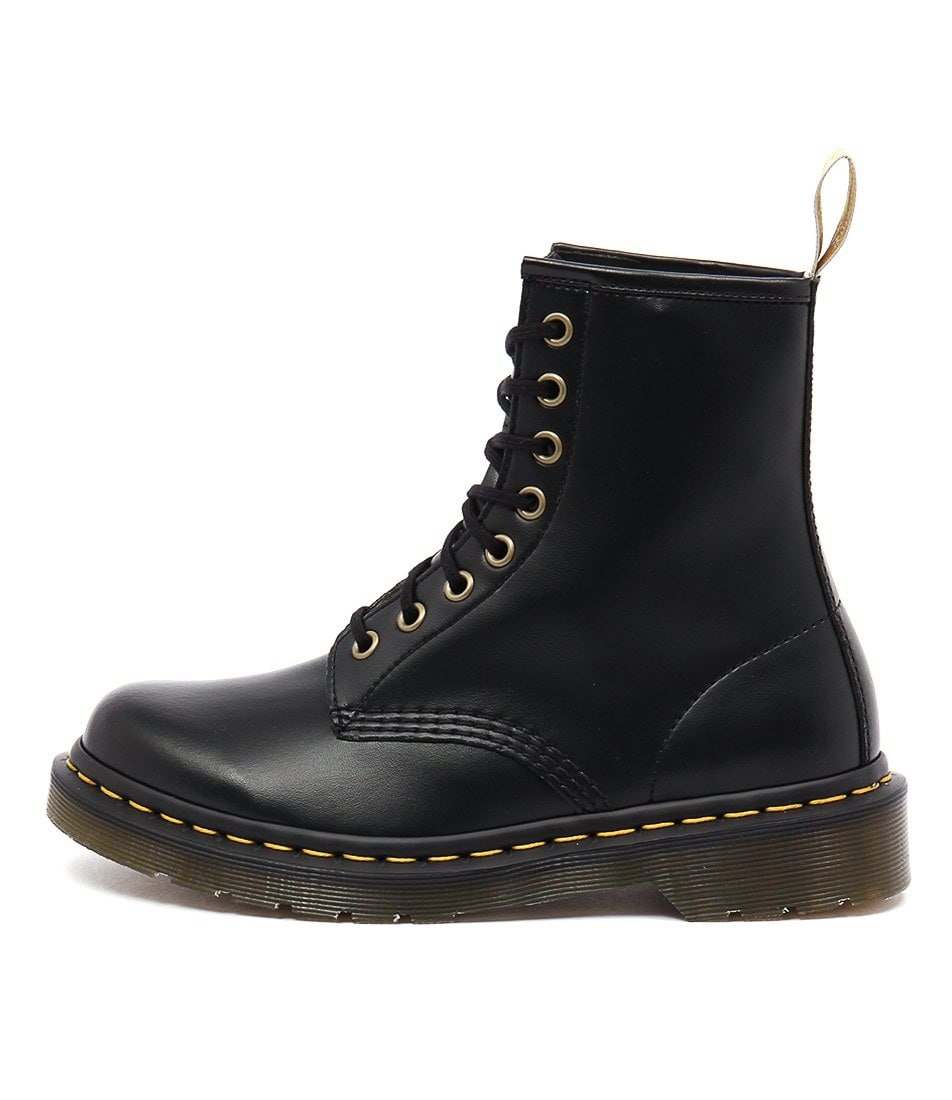 Buy Dr Marten 1460 Vegan 8 Eye Boot Black Ankle Boots online with free shipping