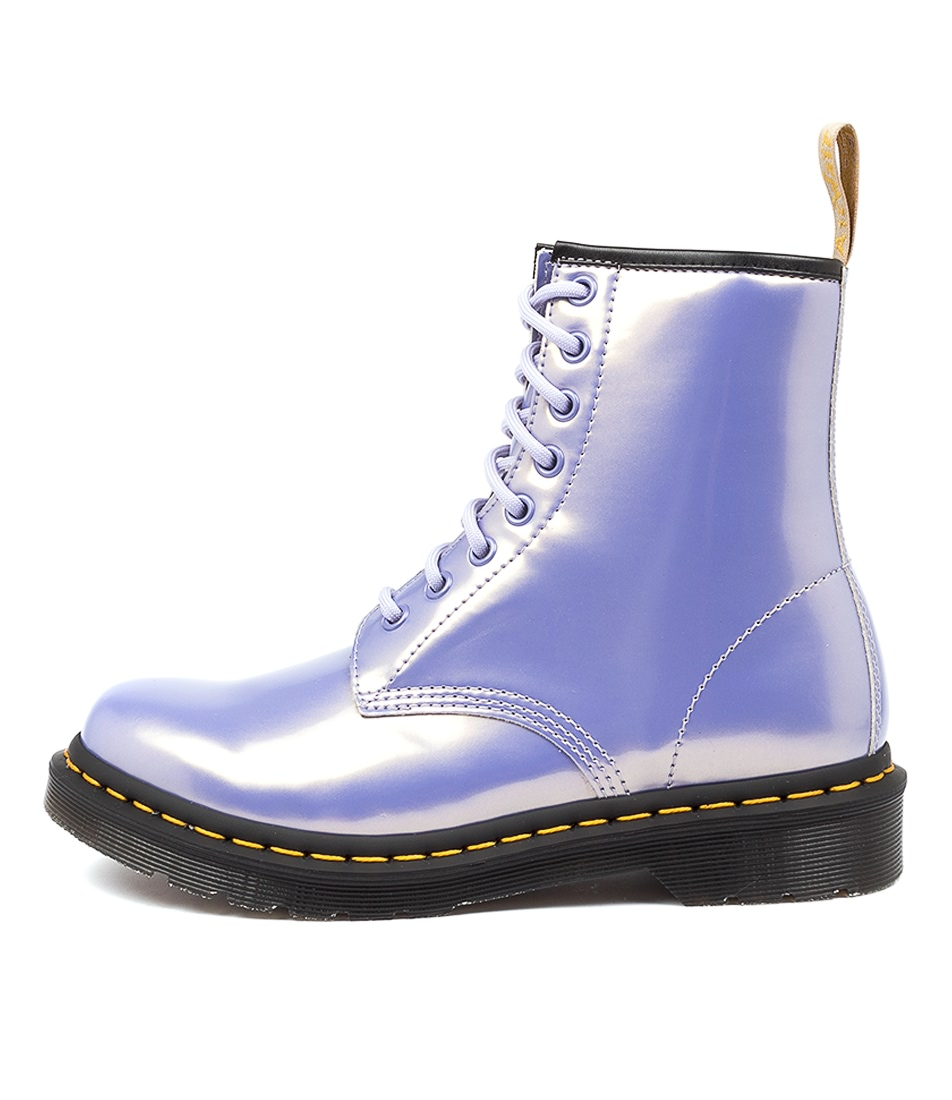 Buy Dr Marten 1460 Vegan 8 Eye Boot Purple Heather Ankle Boots online with free shipping