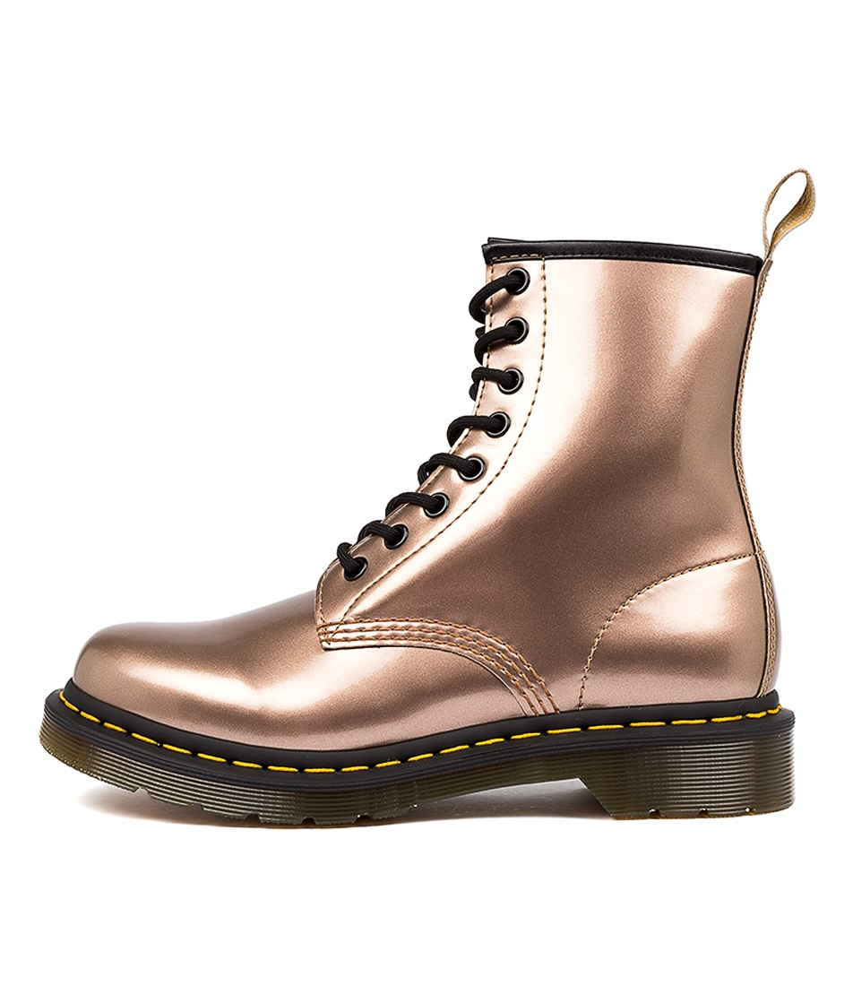 Buy Dr Marten 1460 Vegan 8 Eye Boot Rose Gold Ankle Boots online with free shipping
