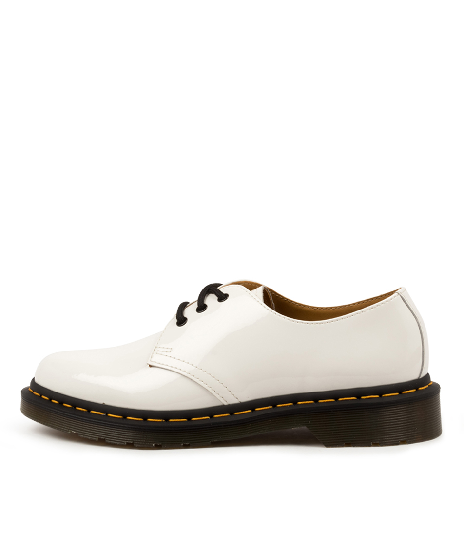 Buy Dr Marten 1461 3 Eye Shoe White Flats online with free shipping