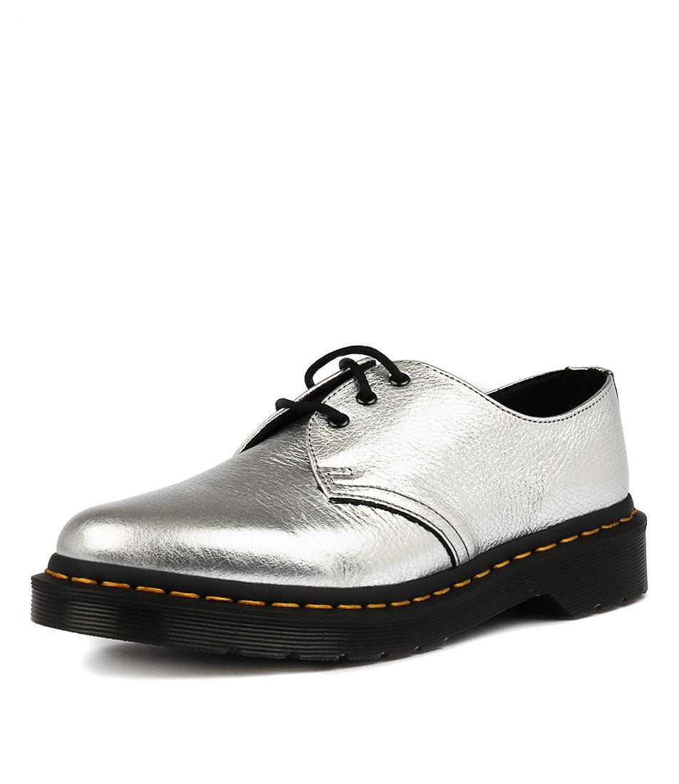 Dr Marten 1461 Met Silver Flat Shoes