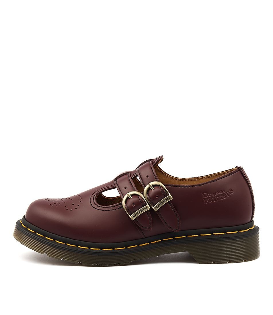 Dr Marten 8065 Mary Jane Cherry Red Heeled Shoes