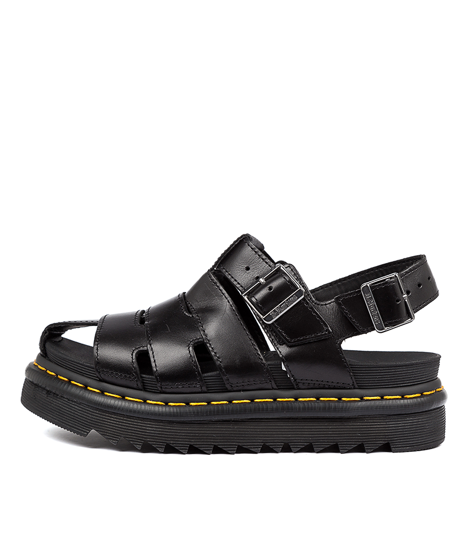 Buy Dr Marten Abel Dm Black Flat Sandals online with free shipping