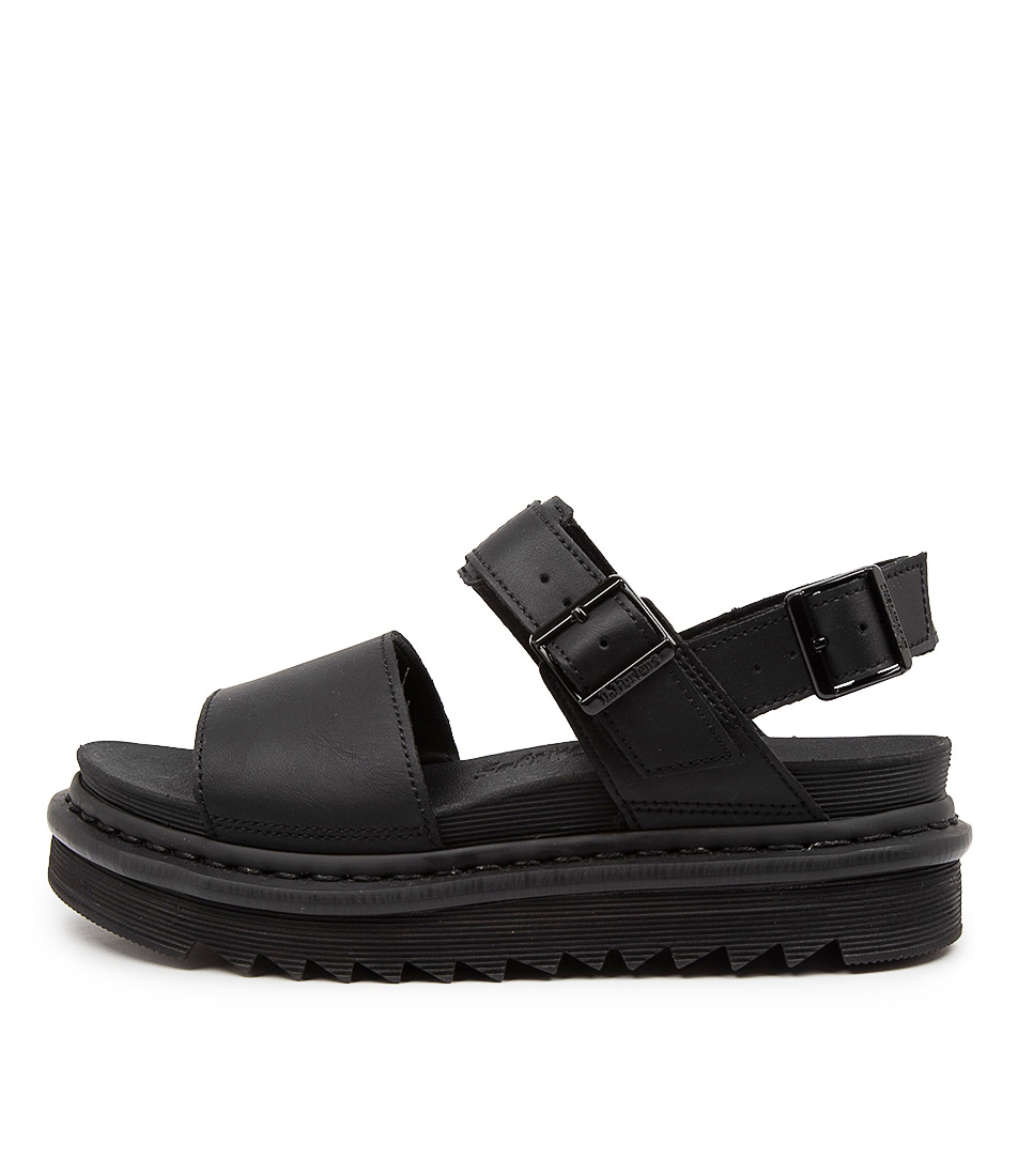 Buy Dr Marten Voss Dm Black Flat Sandals online with free shipping