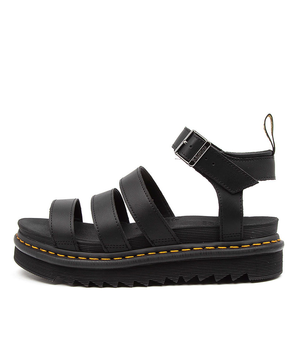 Buy Dr Marten Blaire Hydro Dm Black Flat Sandals online with free shipping