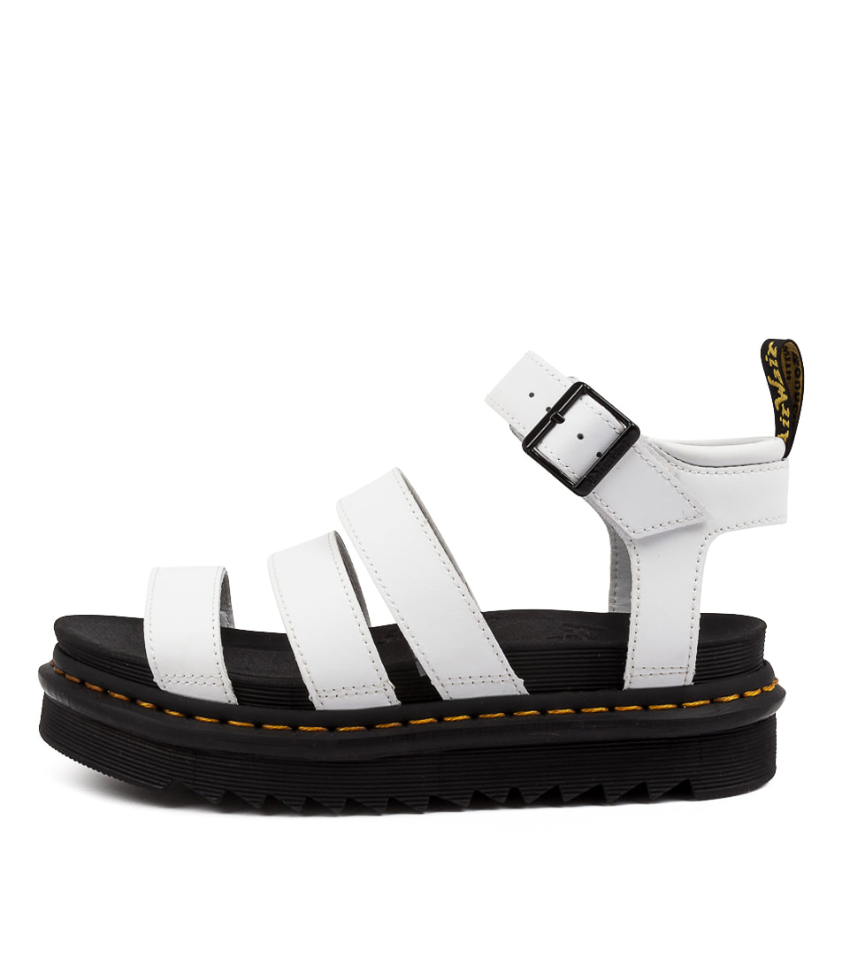 Buy Dr Marten Blaire Hydro Dm White Flat Sandals online with free shipping