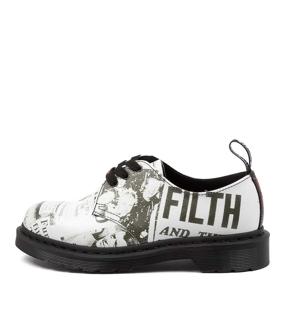Buy Dr Marten 1461 Sex Pistols Dm White Flats online with free shipping