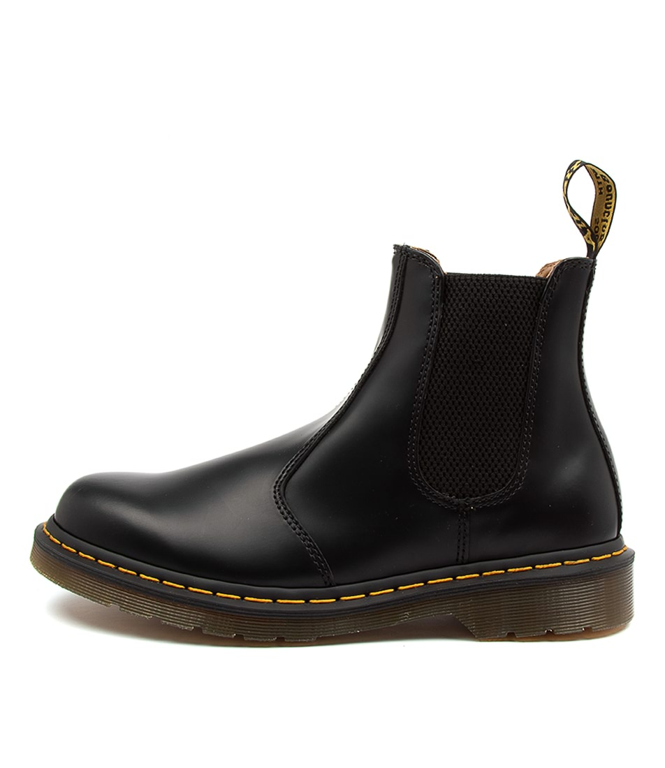 Buy Dr Marten 2976 Chelsea Bt Ylw Stitch Dm Black Ankle Boots online with free shipping
