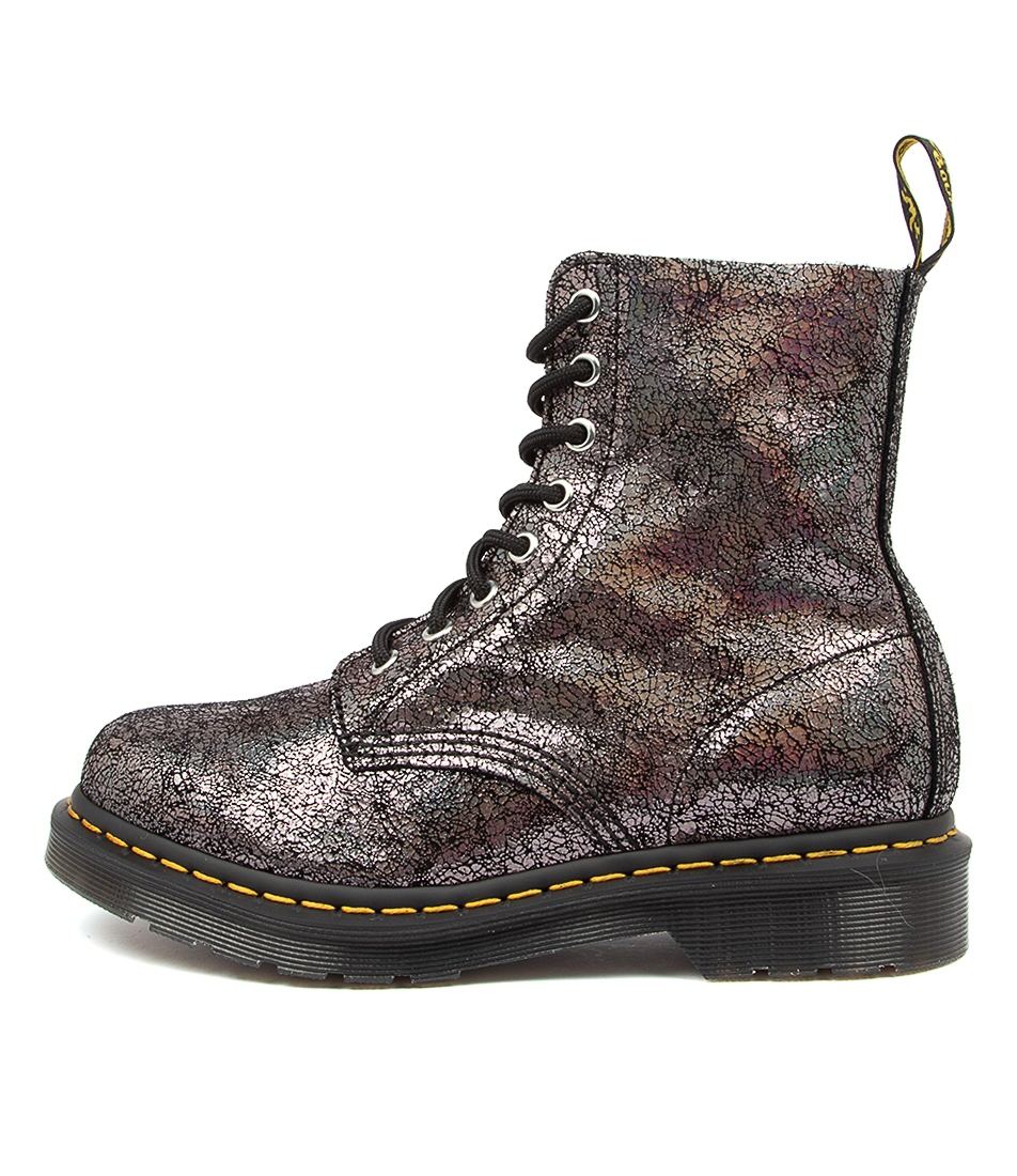 Buy Dr Marten 1460 Pascal Crackle Dm Gunmetal Ankle Boots online with free shipping