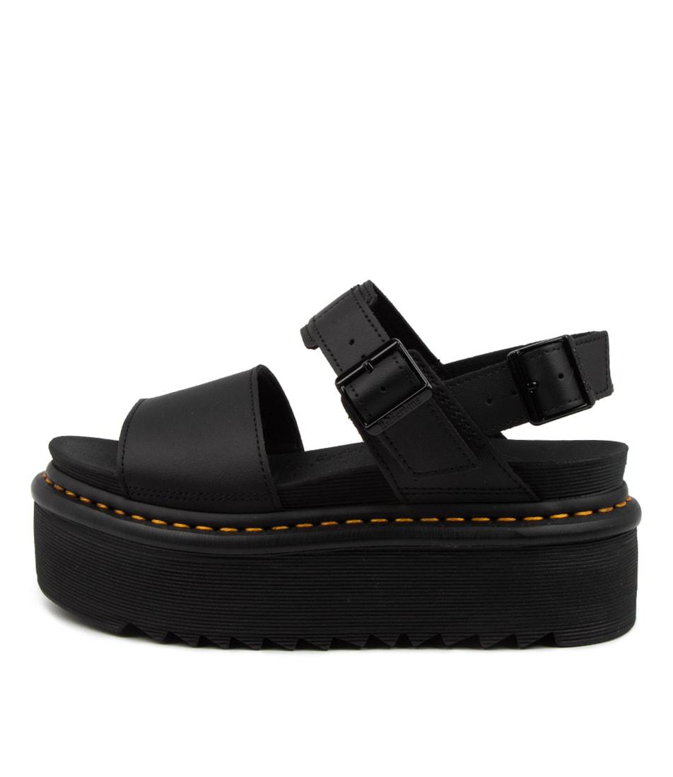 Buy Dr Marten Voss Quad Dm Black Flat Sandals online with free shipping