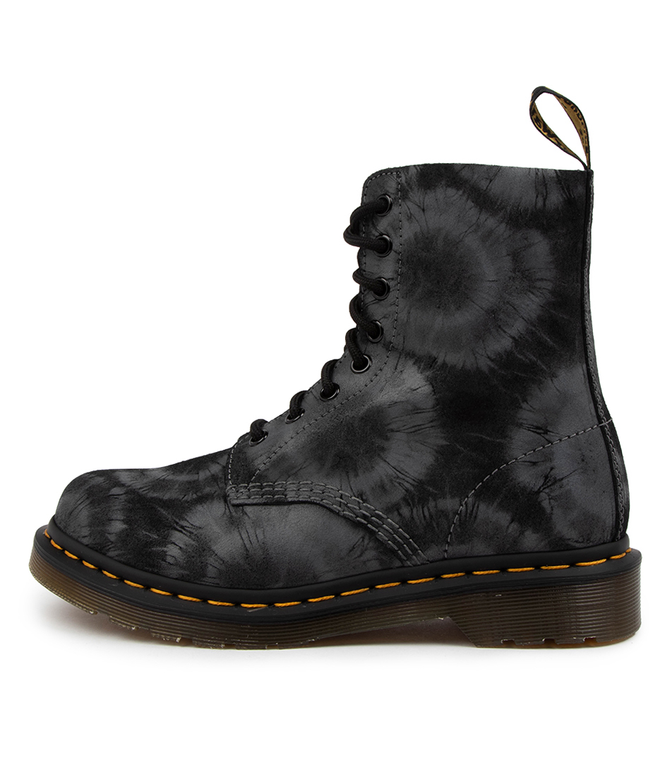 Buy Dr Marten 1460 Pascal Tie Dye Dm Black Charcoal Grey Tie Dye Ankle Boots online with free shipping