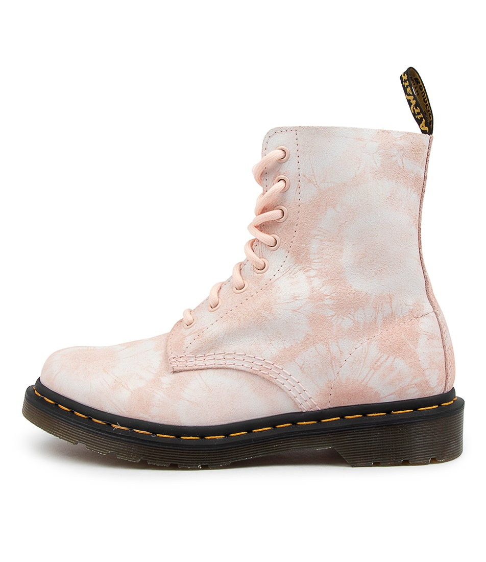 Buy Dr Marten 1460 Pascal Tie Dye Dm Shell Pink White Tie Die Ankle Boots online with free shipping