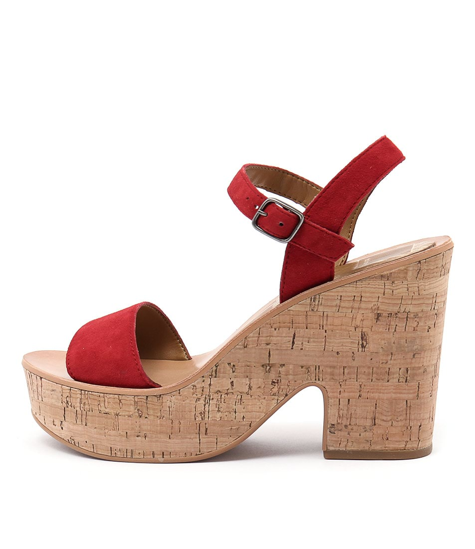 Dolce Vita Randi Red Heeled Sandals