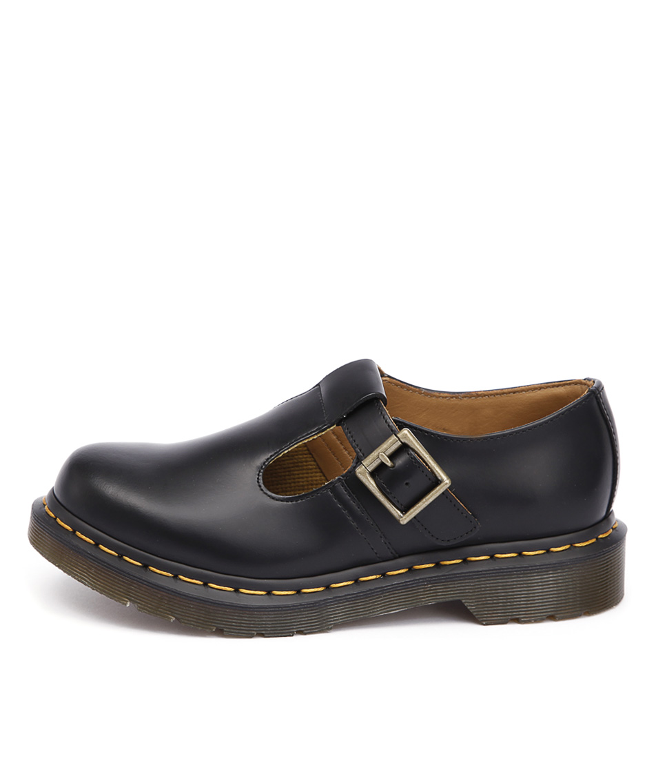 Dr Marten Polley Mary Jane Black Flat Shoes