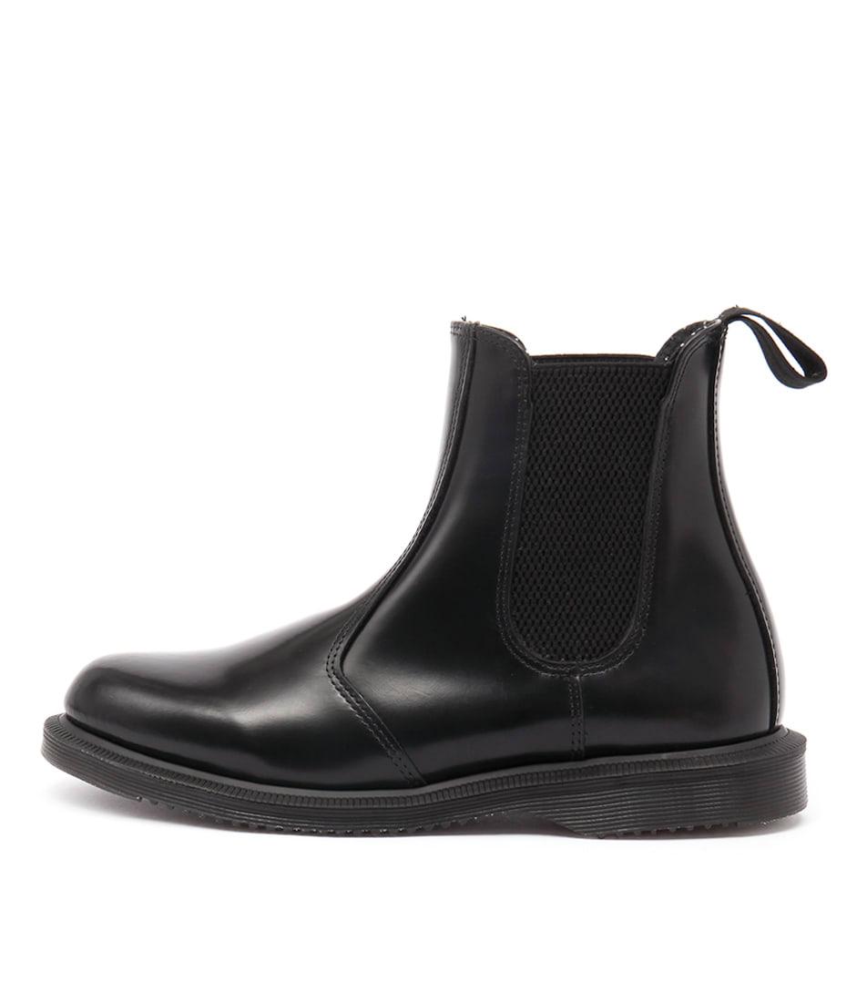 Dr Marten Flora Chelsea Black Ankle Boots