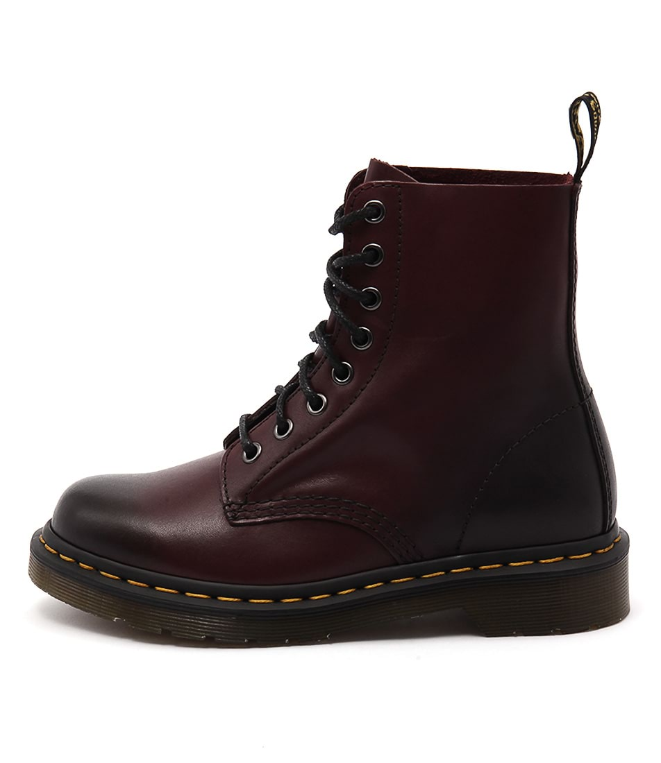 Dr Marten Pascal 8 Eye Boot Cherry Red Ankle Boots