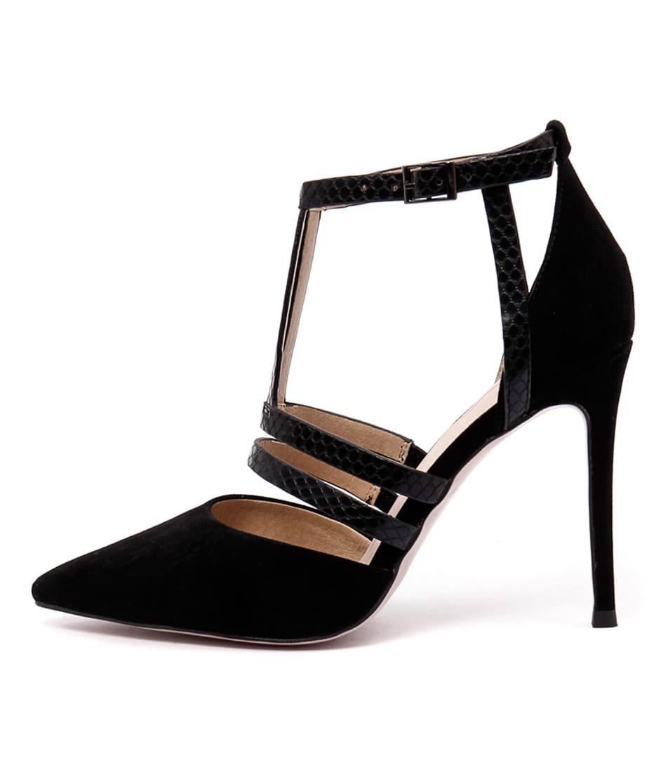 Mollini Dyson Black Heeled Sandals