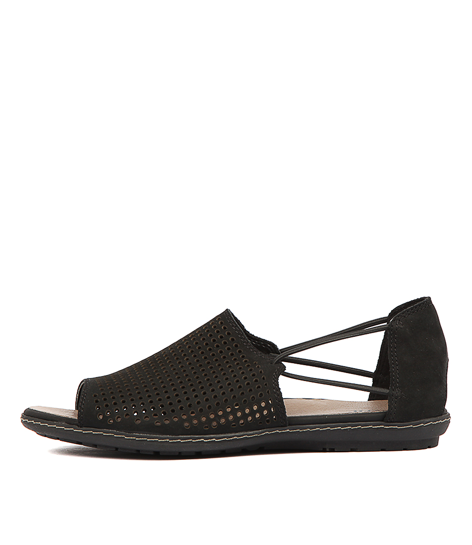 Buy Earth Shelly Black Flat Sandals online with free shipping