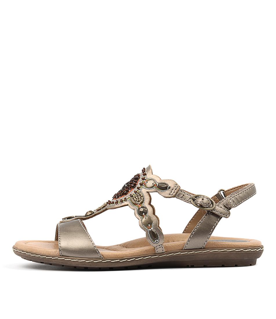 Earth Sunbeam Silver Casual Flat Sandals