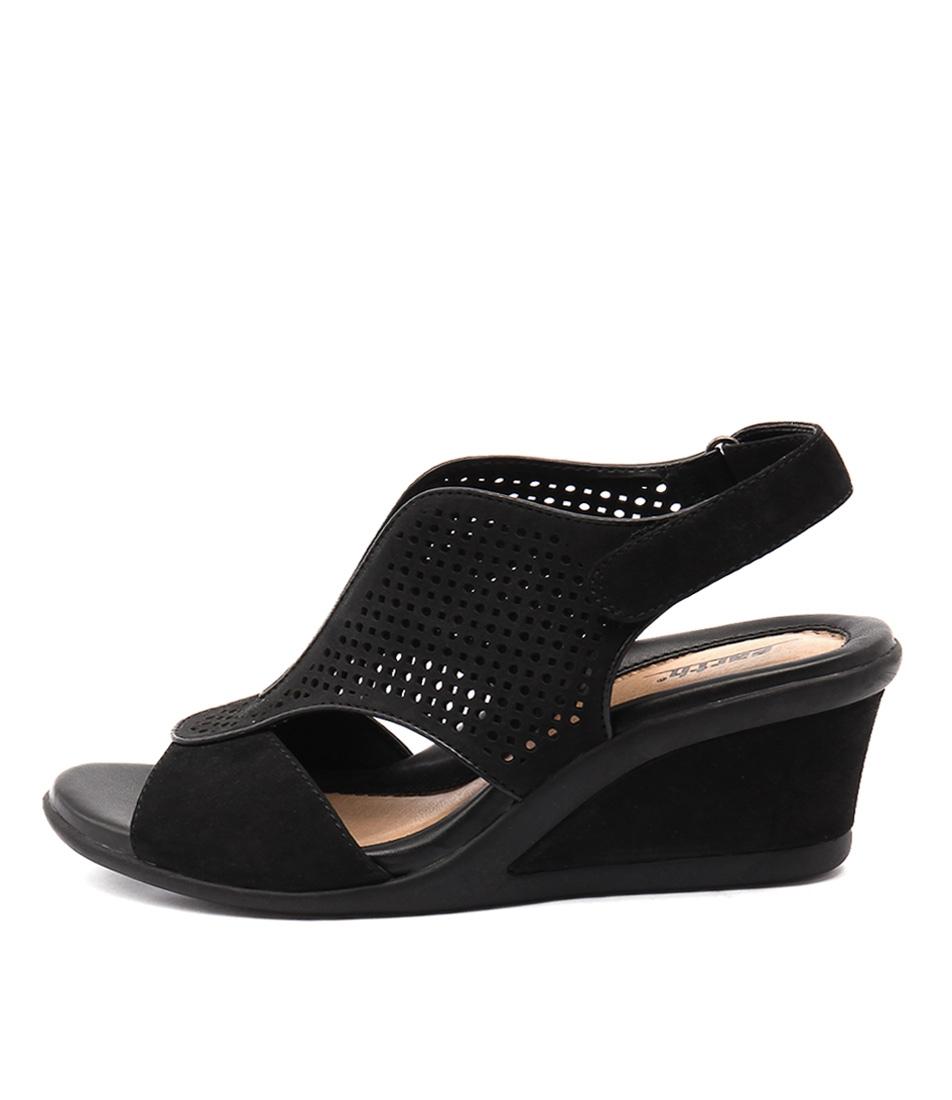 Earth Dalia Black Casual Heeled Sandals