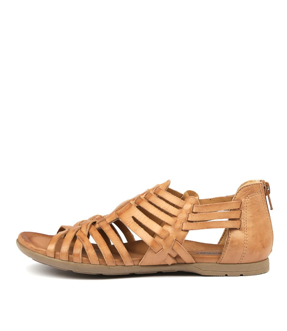 Buy Earth Bonfire Camel Flat Sandals online with free shipping