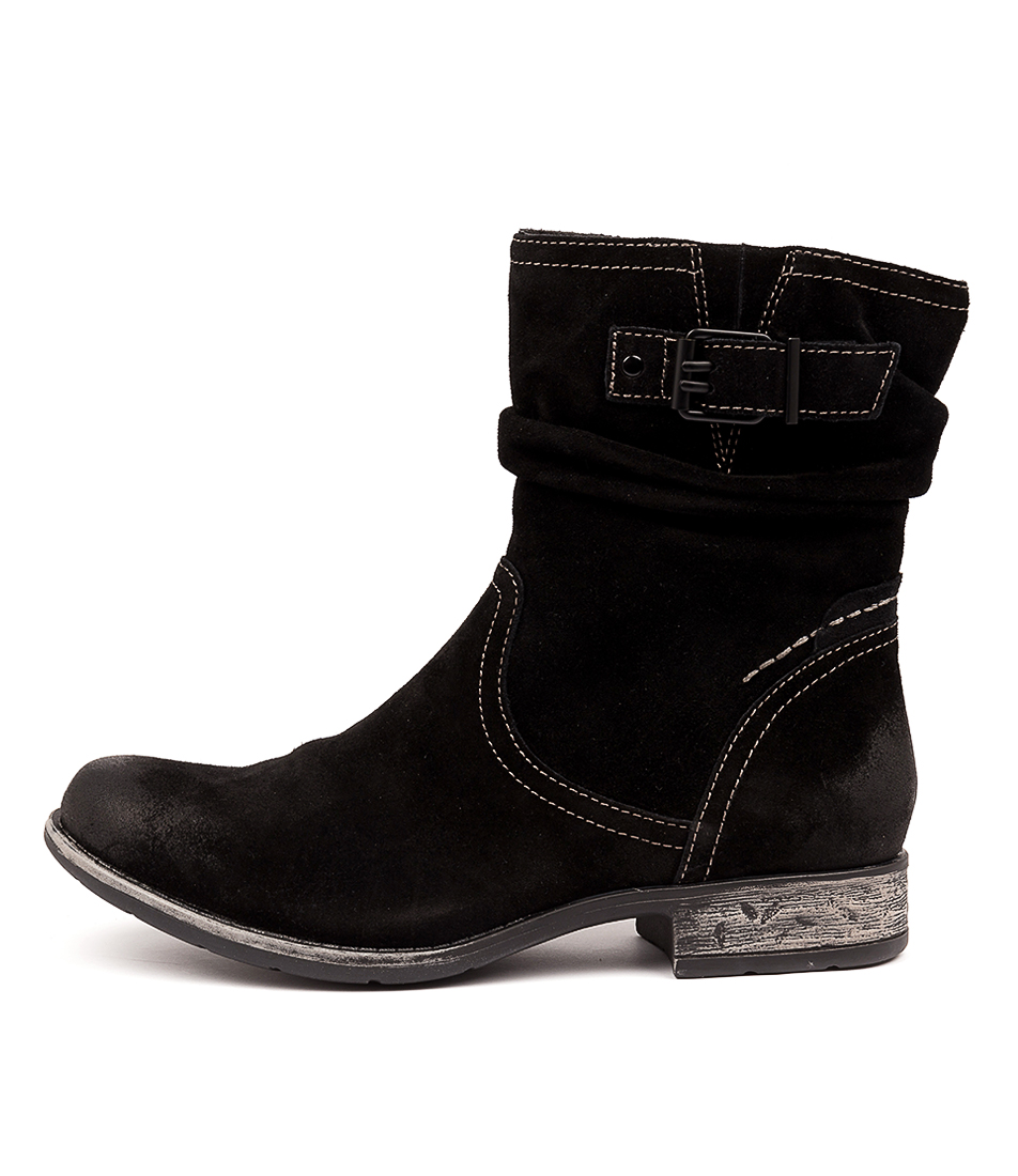 Buy Earth Beaufort Black Comfort Calf Boots online with free shipping