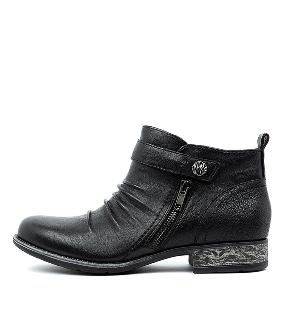 Buy Earth Brooke Ea Black Ankle Boots online with free shipping