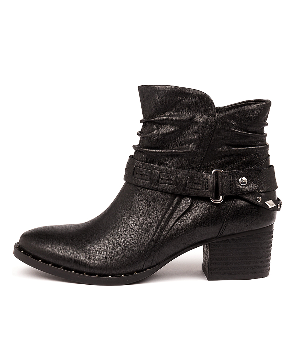 Buy Earth Desoto Black Ankle Boots online with free shipping