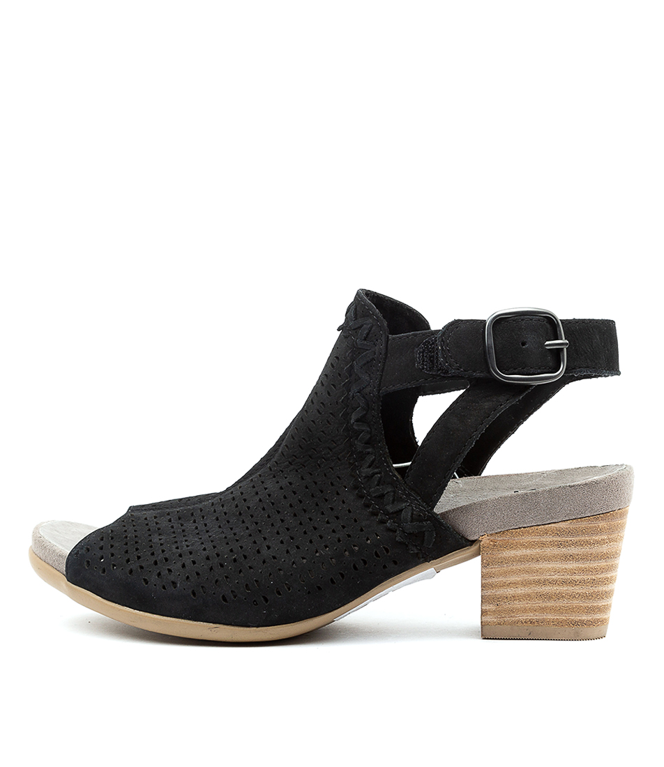 Buy Earth Syrah Ea Black Heeled Sandals online with free shipping