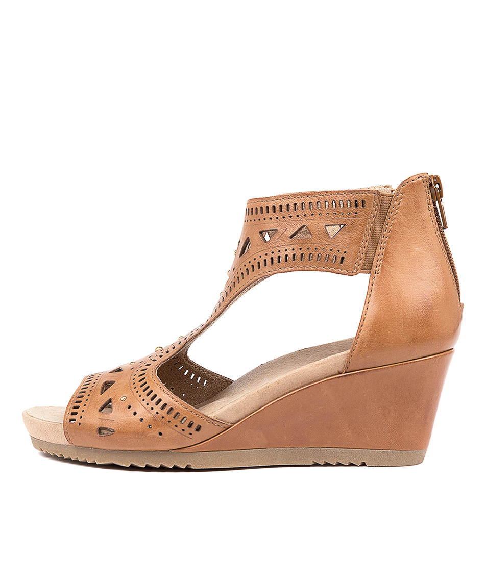 Buy Earth Barbuda Ea Sand Brown Heeled Sandals online with free shipping