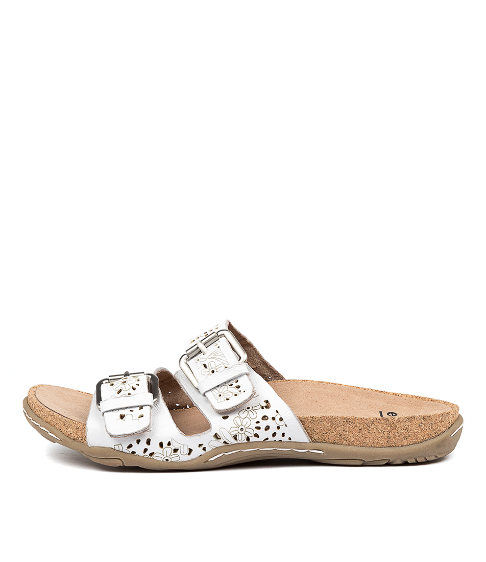 Buy Earth Antigua Ea White Sandals online with free shipping