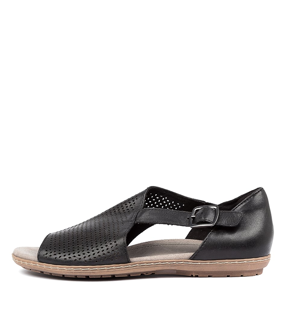 Buy Earth Ballston Ea Black Flat Sandals online with free shipping