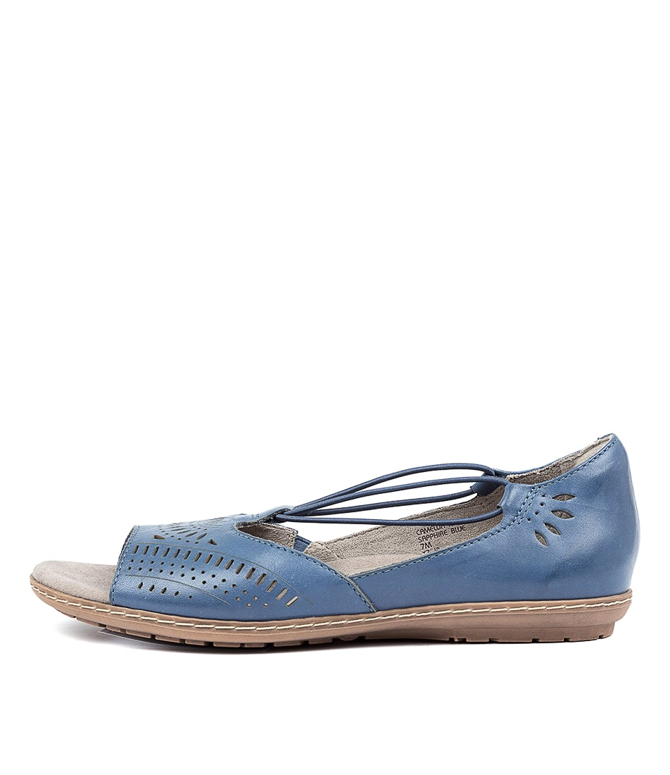 Buy Earth Nauset Ea Sapphire Blue Flat Sandals online with free shipping