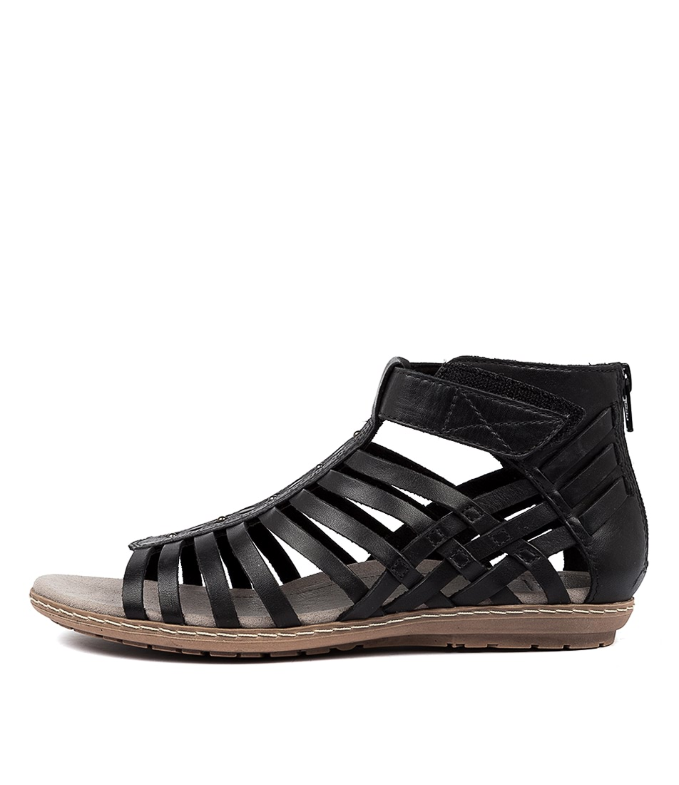 Buy Earth Marconi Ea Black Flat Sandals online with free shipping
