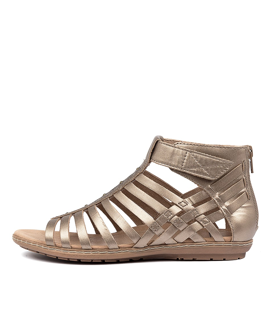 Buy Earth Marconi Ea Platinum Flat Sandals online with free shipping