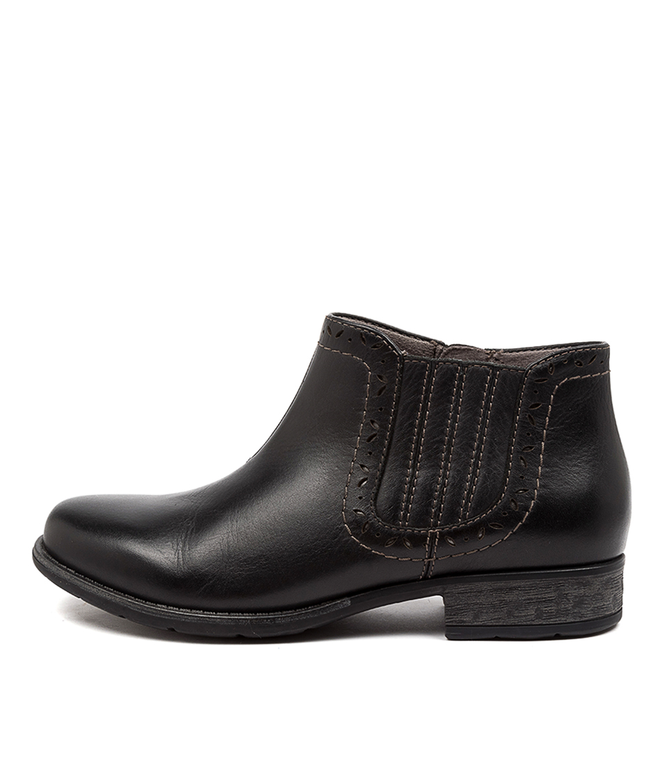Buy Earth Buxton Ea Black Ankle Boots online with free shipping