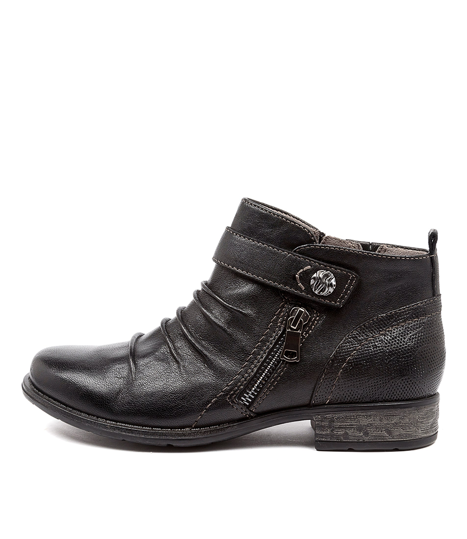 Buy Earth Buckeye Ea Black Ankle Boots online with free shipping