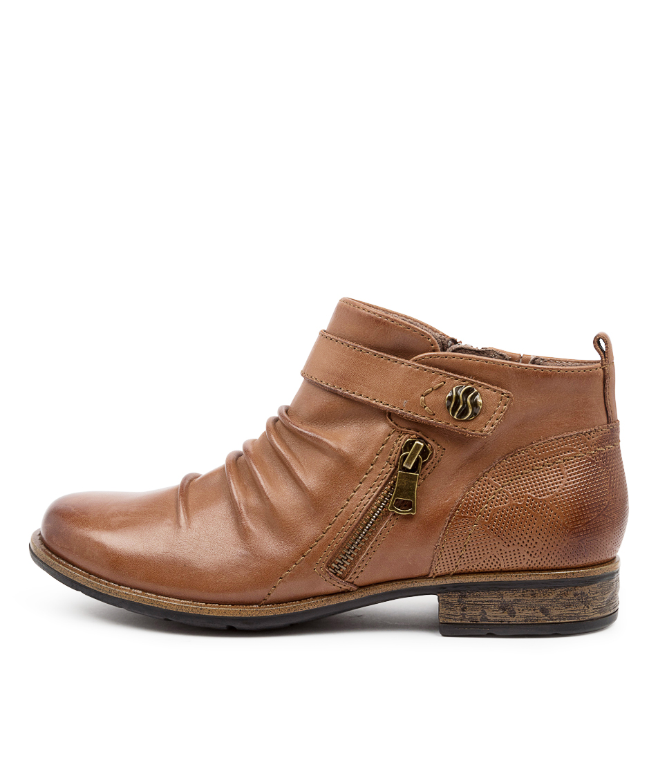 Buy Earth Buckeye Ea Almond Ankle Boots online with free shipping