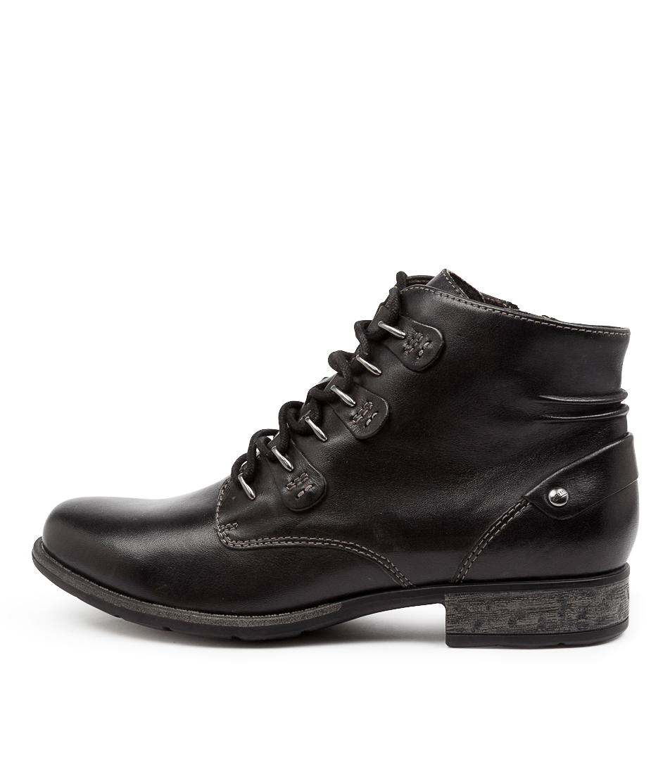 Buy Earth Bahn Ea Black Ankle Boots online with free shipping