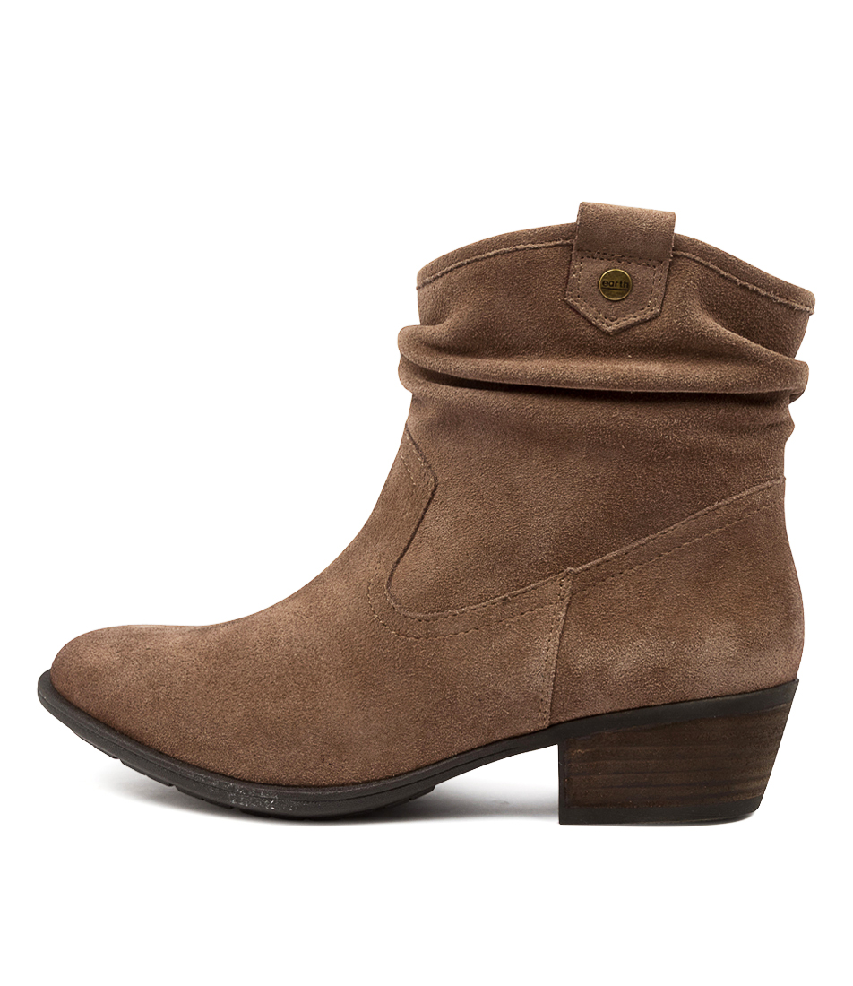Buy Earth Pioneer Ea Taupe Ankle Boots online with free shipping