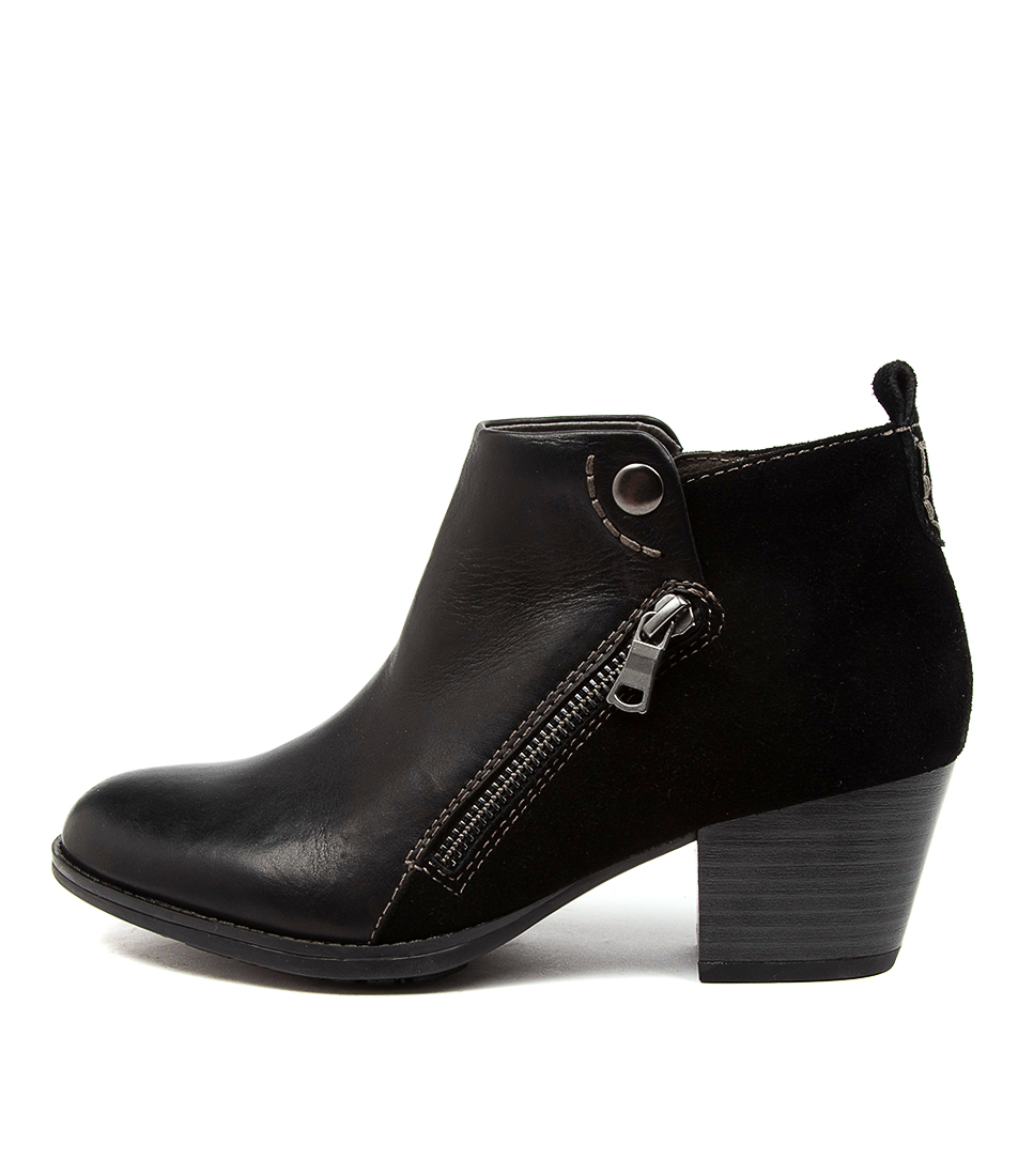 Buy Earth Maple Ea Black Ankle Boots online with free shipping