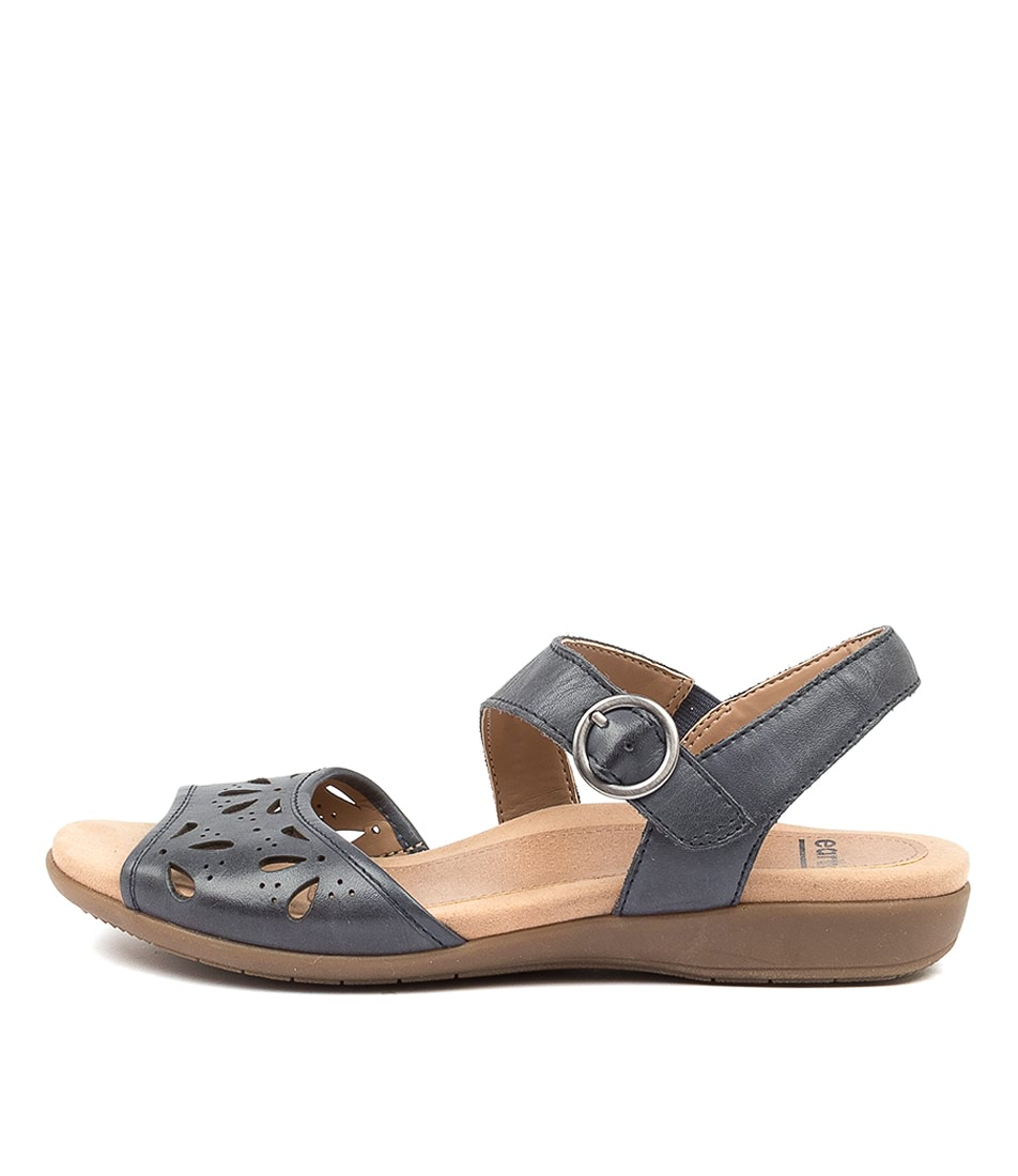 Buy Earth Arvi Ea Admiral Blue Flat Sandals online with free shipping